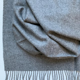 100% Baby Alpaca Fiber Throw - Solid Grey Color Detail