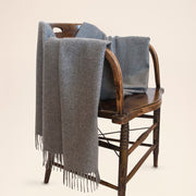 100% Baby Alpaca Fiber Throw - Solid Grey Color