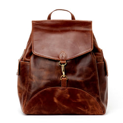 JOYN India All Leather Backpack