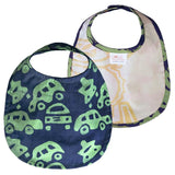 Global Mamas Hand-printed Batik Fabric Bib - Cars