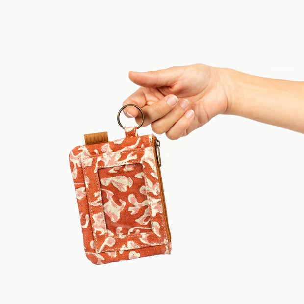 Bimla Printed Cotton ID Pouch - Autumn Shadow lifestyle