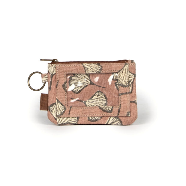 Bimla Printed Cotton ID Pouch - Clay Gingko