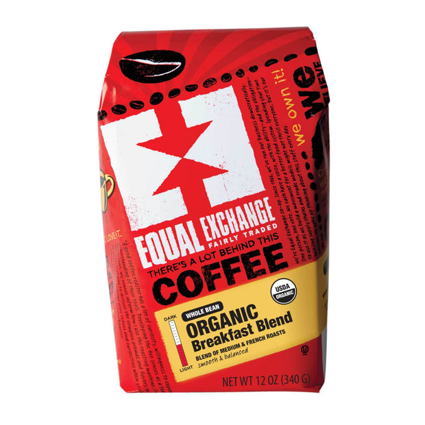 Equal Exchange Organic Breakfast Blend Coffee 12 oz Whole Bean