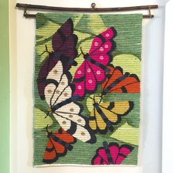 Fair Trade Butterflies Wall Art Tapestry from Peru