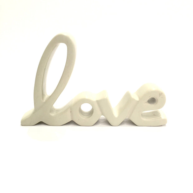 Soapstone Standing Word Decor Sculpture - Love Natural