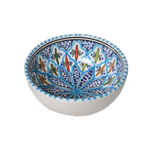 Rosette Hand-painted Ceramic Cereal Bowl