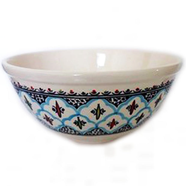 Rosette Large Deep Ceramic Bowl