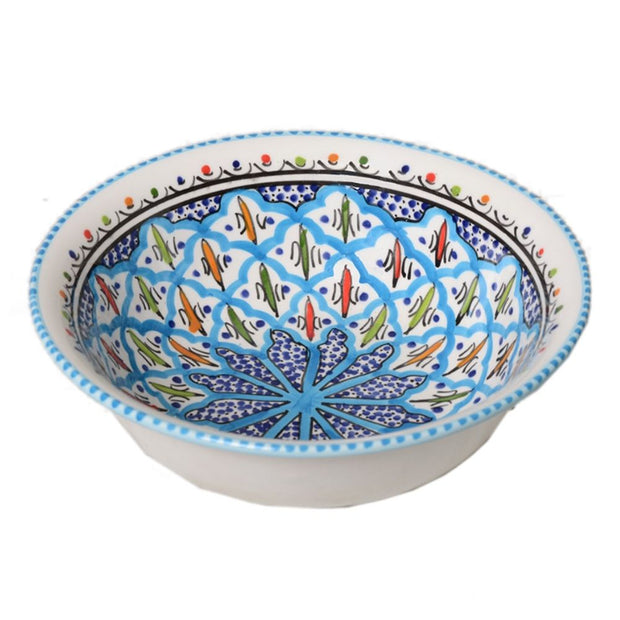 Rosette Medium Hand-painted Bowl