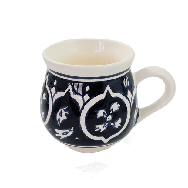 Nigella Black Hand-painted Ceramic Mug