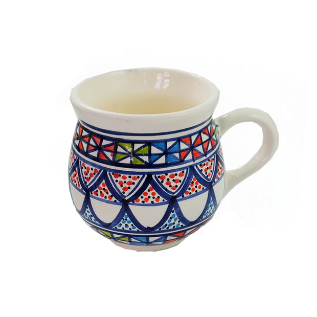 Dishes & Deco Pinwheel Hand-painted Ceramic Mug