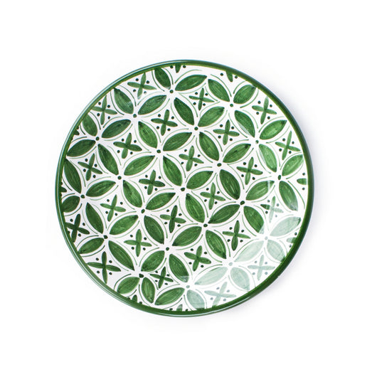 Fez Hand Painted Ceramic Side Plate - green