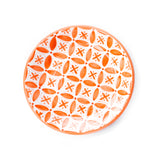Fez Hand Painted Ceramic Side Plate - orange