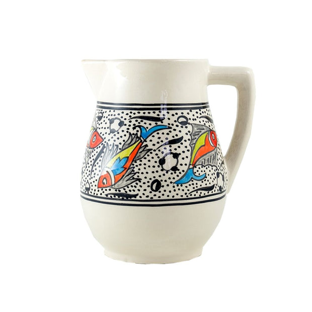 Rainbow Fish Hand-painted Pitcher