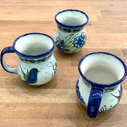 Hand-painted Wild Bird Coffee Mug various angles