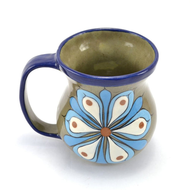 Hand-painted Floral Ceramic Coffee Mug