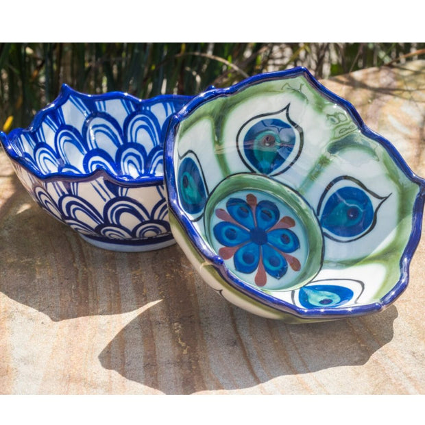 Hand-painted Ceramic Lotus Bowl lifestyle