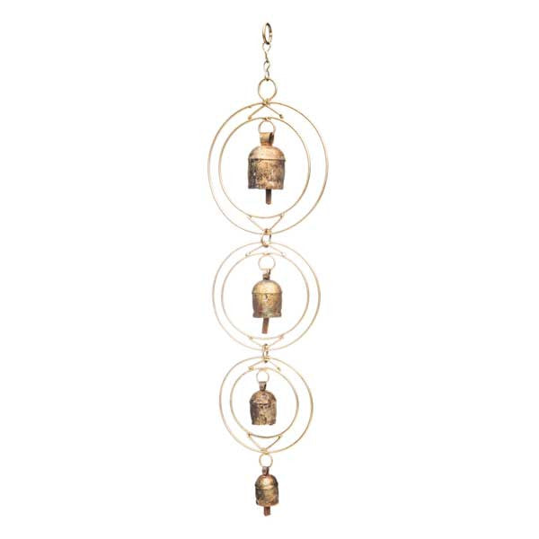 Ushas Golden Dawn Chime with Four Bells