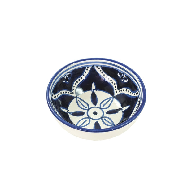 Dishes & Deco Nigella Cobalt Hand-painted Small Ceramic Bowl