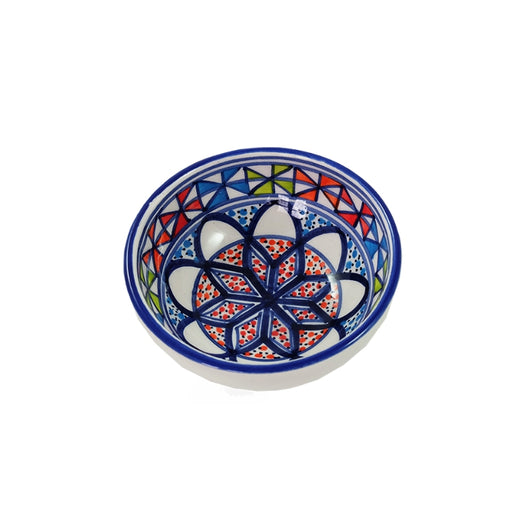 Dishes & Deco Pinwheel Hand-painted Small Ceramic Bowl