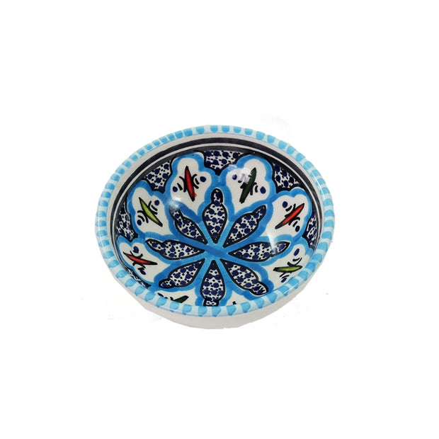 Dishes & Deco Rosette Hand-painted Small Ceramic Bowl