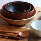 Large Ceramic Mixing Bowl - Terracotta lifestyle