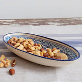 Le Souk Hand-painted Ceramic Small Oval Platter - Tibarine lifestyle