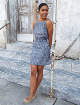 Chambray Ikat Shift Dress
