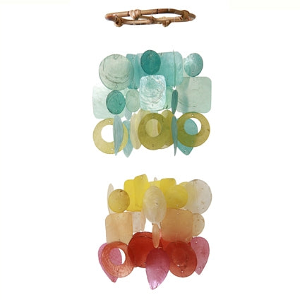 Capiz Shells Mini Chandelier Wind Chime – Fiesta Multicolor