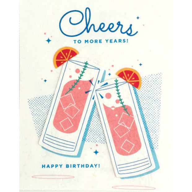 Craft Cocktail Birthday Card by Good Paper