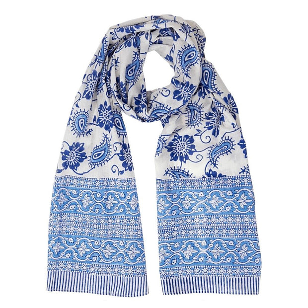Paisley Floral Lightweight Cotton Scarf