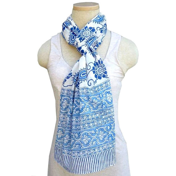 Paisley Floral Lightweight Cotton Scarf lifestyle