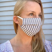 Cotton Pleated Face Mask with Elastic Straps model