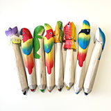 Bundle of 8 Animals Balsa Wood Crayons in a Box
