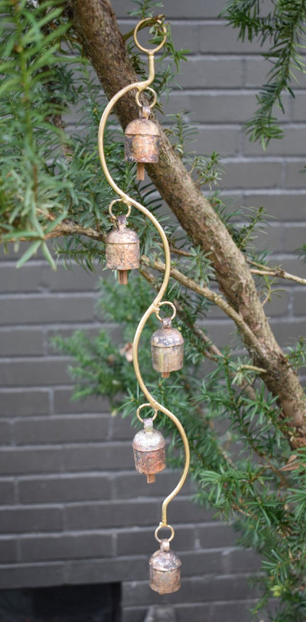 Five Metal Bells on a Curved Stem lifestyle