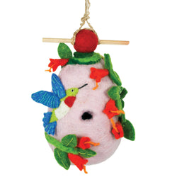 Felted Wool Birdhouse: Hummingbird