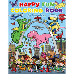 Happy Fun Coloring Book - front cover