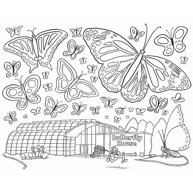 Happy Fun Coloring Book - interior page