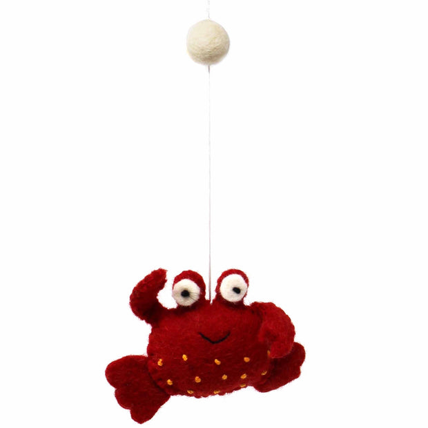 Felt Baby Mobile - Deep Sea Creatures crab
