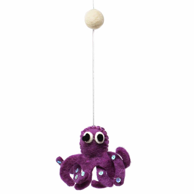 Felt Baby Mobile - Deep Sea Creatures octopus
