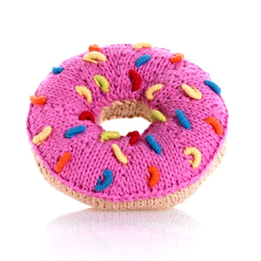 Pebble Donut Rattle - Pink Frosting