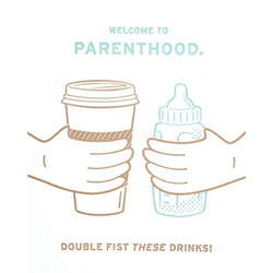 Double Fist Parenthood Congratulations Card by Good Paper