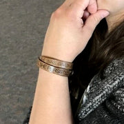 Double Wrap Recycled Leather Bracelet - She Persisted lifestyle