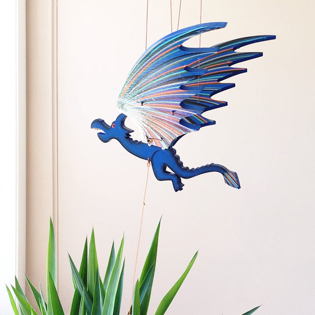 Flying Dragon Mobile -Blue lifestyle