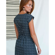 Artsy Traveler Dress Black Dots backview