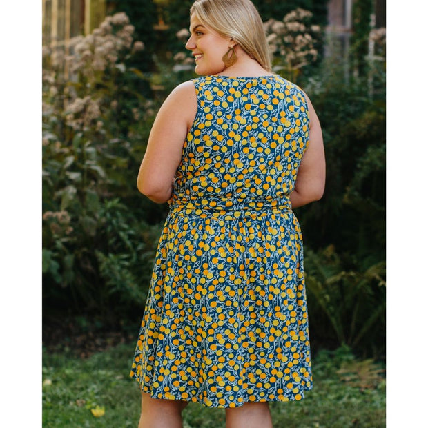 Asheville Plus Size Dress Citrine backview