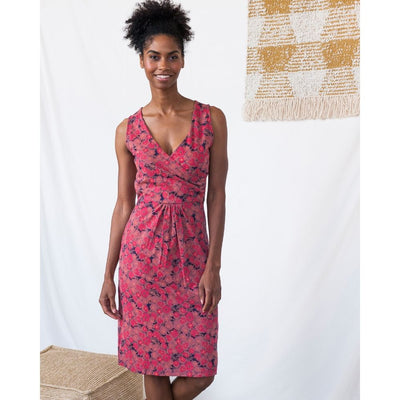Delia Wrap Dress Rose Floral