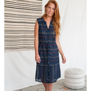 Soho Shirtdress Multi Stitch Navy