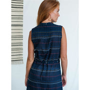 Soho Shirtdress Multi Stitch Navy backview