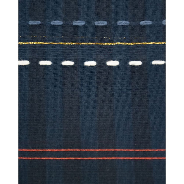 Soho Shirtdress Multi Stitch Navy fabric detail