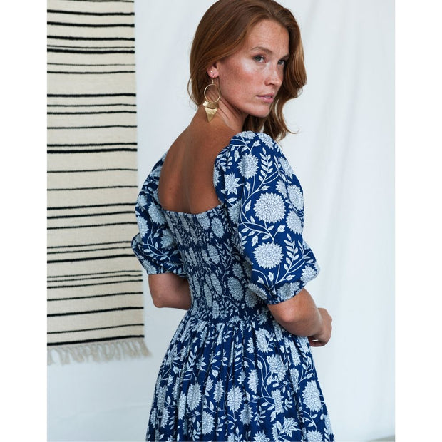 Theodora Maxi Dress Imperial Blue backview